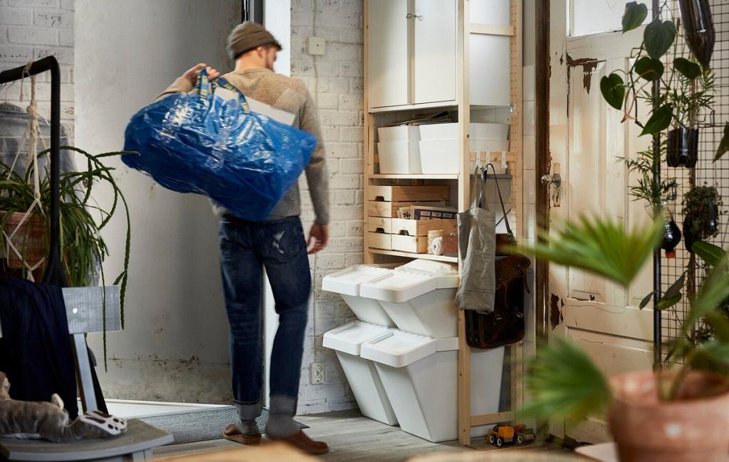 Как спроектировать кухню для раздельного сбора мусора