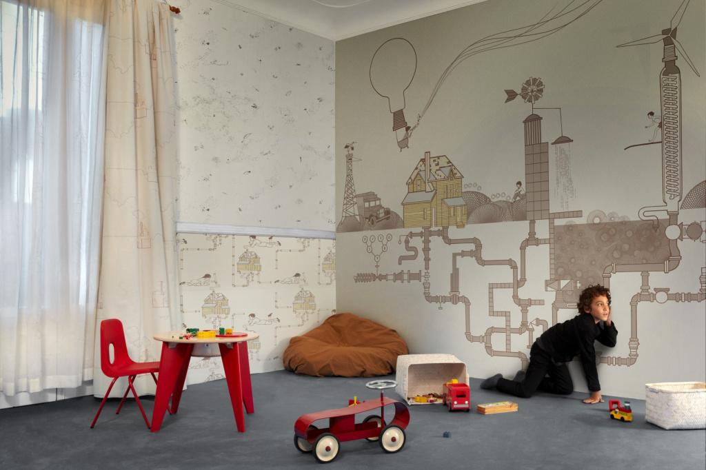 Какое покрытие стен в квартире выбрать для ребенка