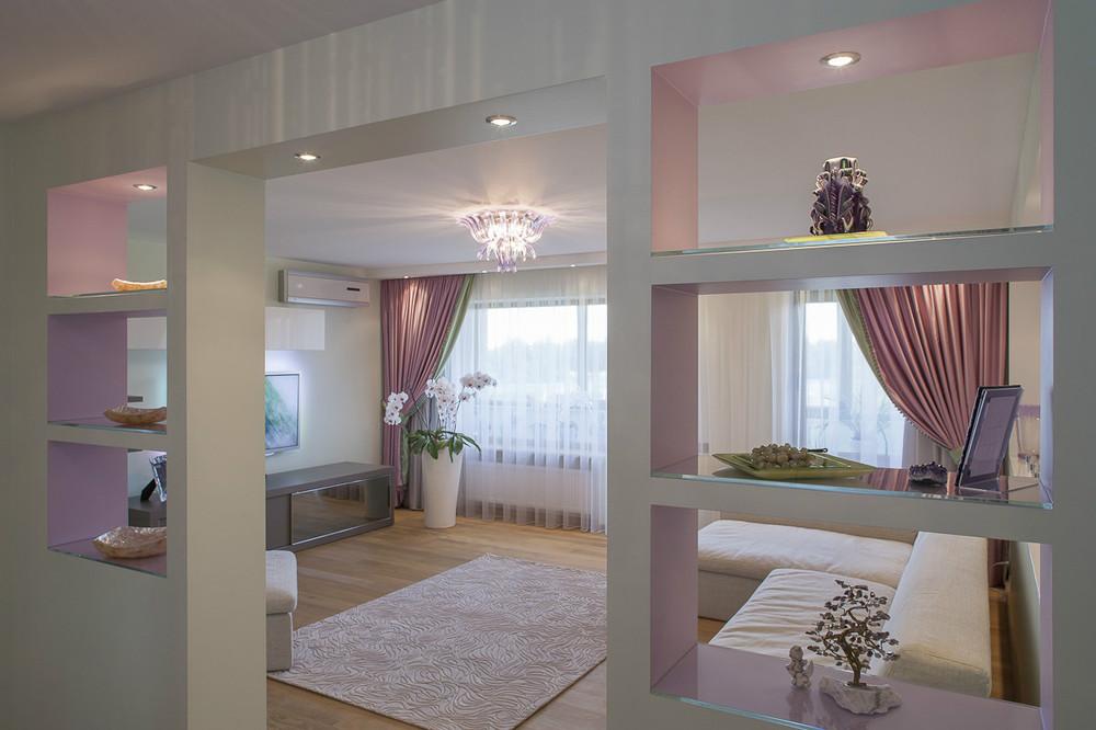 Фото перегородок между спальней и гостиной